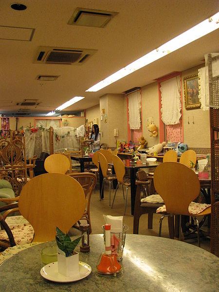 Inside a maid cafe in Den-Den Town, Osaka (Vitalie Ciubotaru)